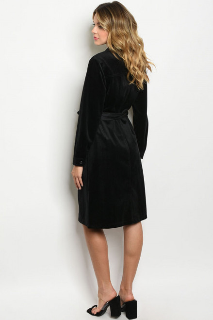 Ready for Anything Black Velvet Dress