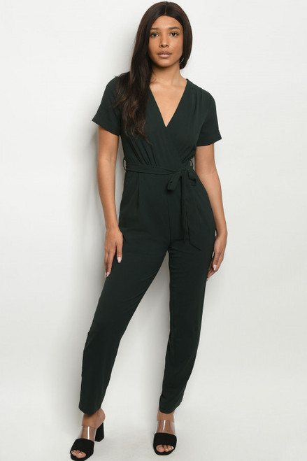 Out of the Box Dark Green Jump Suit image