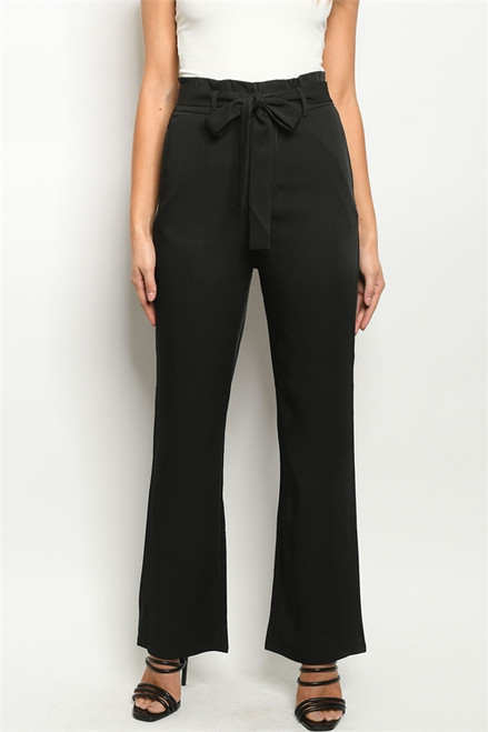 Impact High Waisted Black Straight Leg Pant