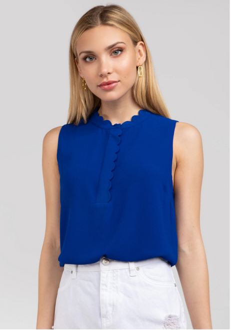 Deep Dive Sapphire Blue Sleeveless Top