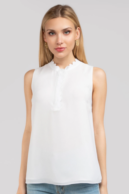 Deep Dive Sleeveless Top in White