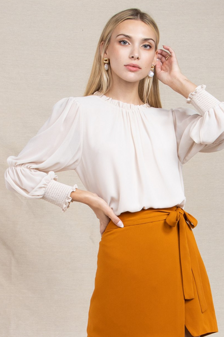 Bottom Line Blouse in Cream