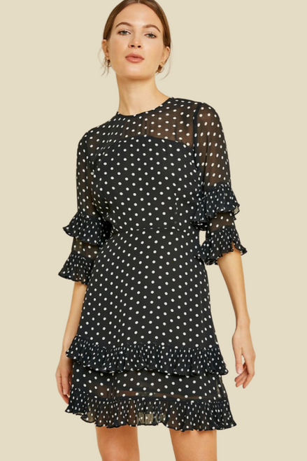 File Room Polka Dot Shift Dress