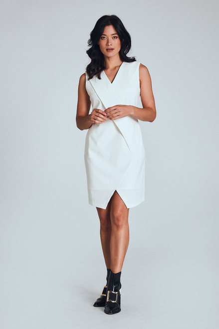 Performance Review Dress in White