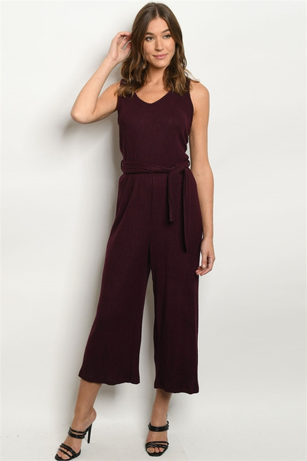 Mood Board Jumpsuit in Wine