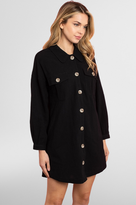 Analyse Buttoned Shirt Dress