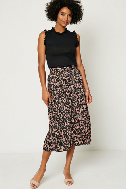 Best Practice Floral Midi Skirt