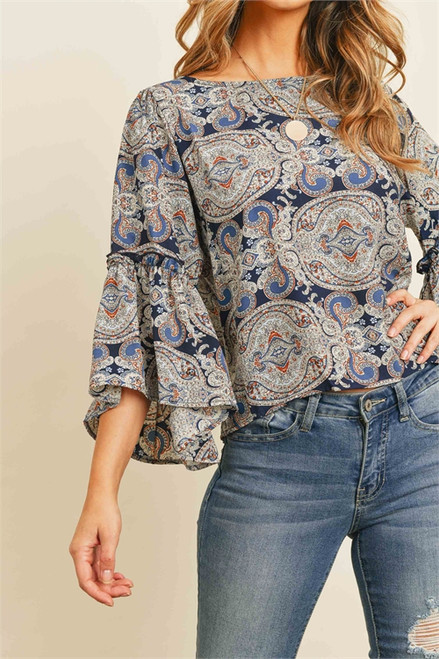 Project Plan Paisley Print Top