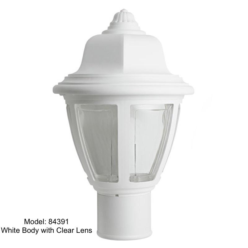 Incon 84391 White Post Top Light USA Made