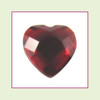 CZH07 - July Red Ruby Heart Crystal Birthstone – 5mm – For Floating Lockets