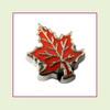 Fall Leaf #2 Orange (Silver Base) Floating Charm
