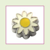 Daisy Flower White (Silver Base) Floating Charm