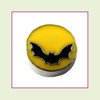Bat on Yellow Moon (Silver Base) Floating Charm