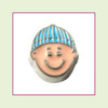 Boy #1 Baby with Blue Beanie Cap (Silver Base) Floating Charm