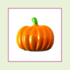 Pumpkin Plain Orange (Silver Base) Floating Charm