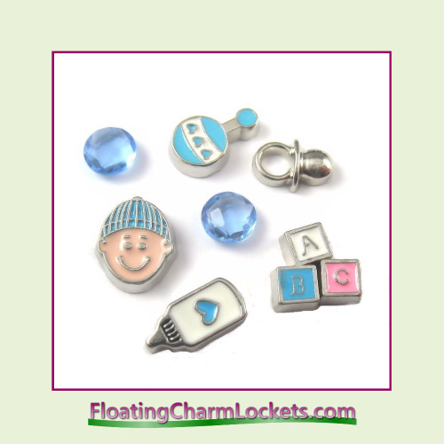 FCL Designs Baby Boy Floating Charm Combination for Lockets