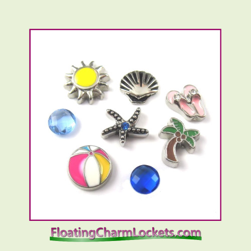 FCL Designs Beach Floating Charm Combination for Lockets