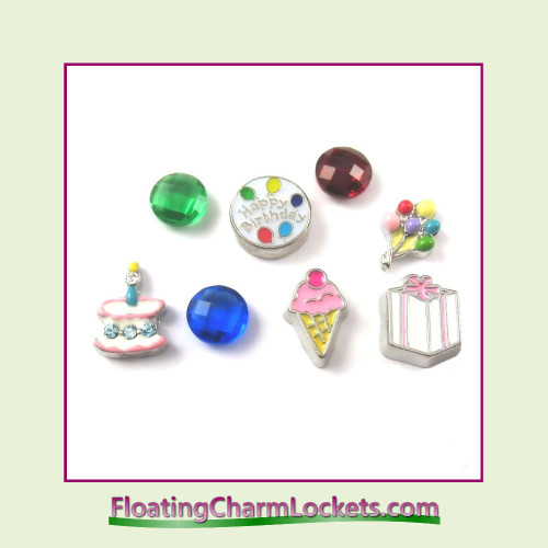 FCL Designs Birthday Floating Charm Combination for Lockets