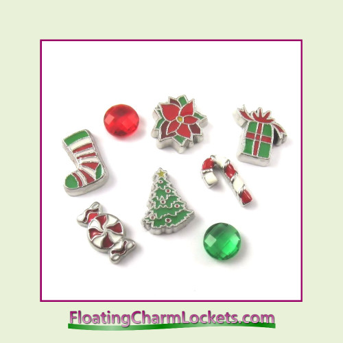 FCL Designs Christmas Floating Charm Combination for Lockets