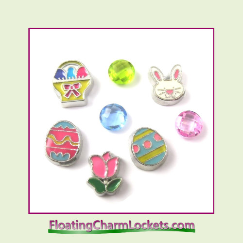 FCL Designs Easter Floating Charm Combination for Lockets