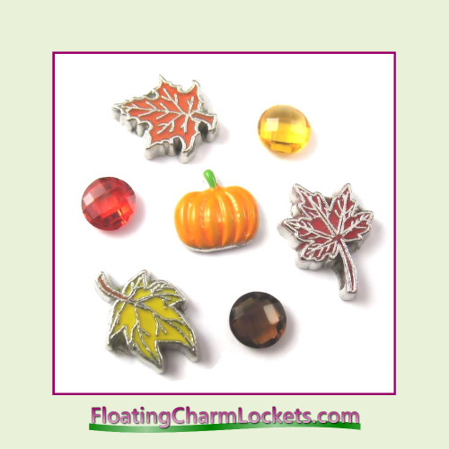 FCL Designs Fall Floating Charm Combination for Lockets