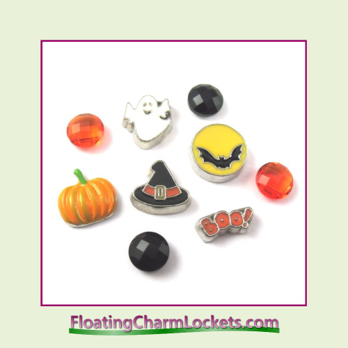 FCL Designs Halloween Floating Charm Combination for Lockets