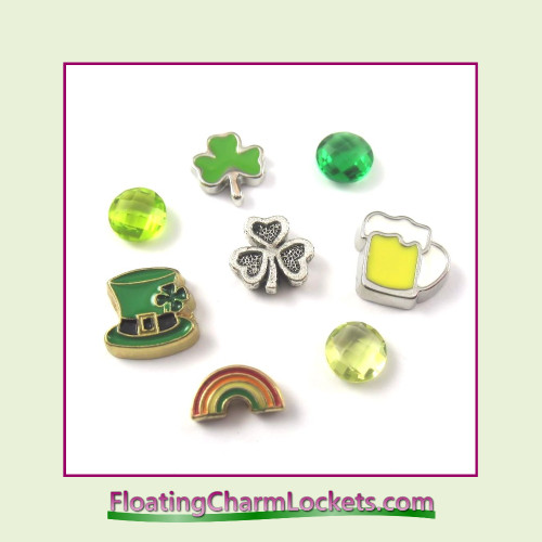 FCL Designs Saint Patrick's Day Floating Charm Combination for Lockets