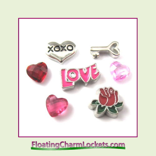 "FCL Designs Valentine's Day ""Love"" Floating Charm Combination for Lockets"