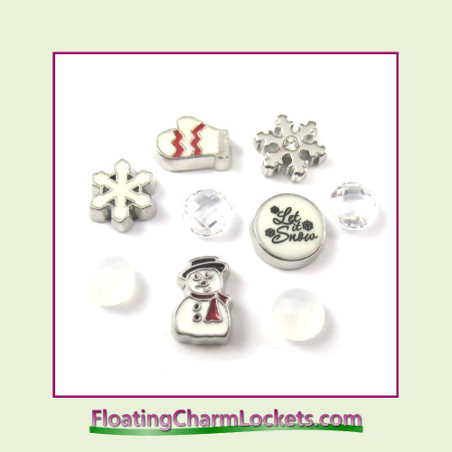 FCL Designs Winter Floating Charm Combination for Lockets