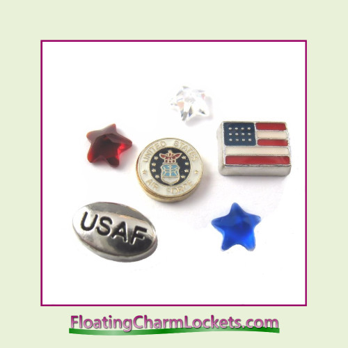 FCL Designs Air Force Floating Charm Combination for Lockets