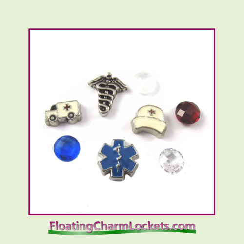 FCL Designs Nurse Floating Charm Combination for Lockets