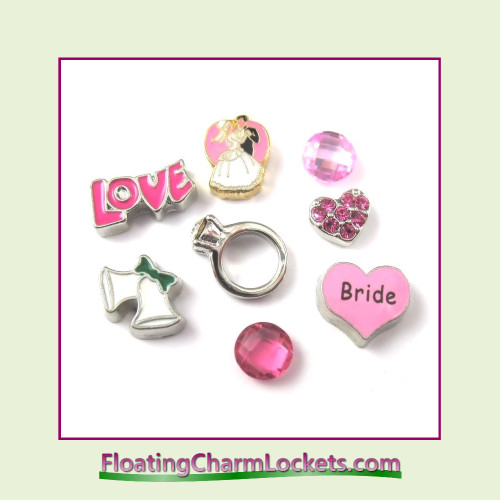 FCL Designs Bride Floating Charm Combination for Lockets