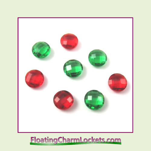 FCL Designs Christmas Crystals Floating Charm Combination for Lockets