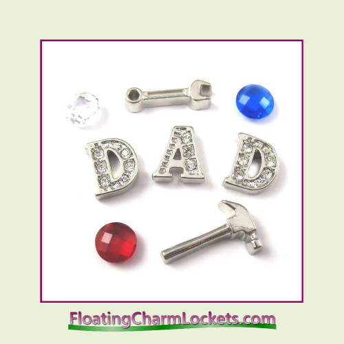 FCL Designs Father's Day Floating Charm Combination for Lockets