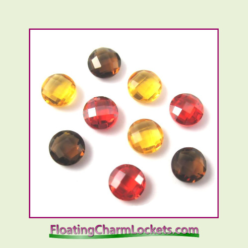 FCL Designs Fall Crystals Floating Charm Combination for Lockets