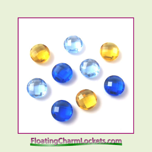 FCL Designs Hanukkah Crystals Floating Charm Combination for Lockets