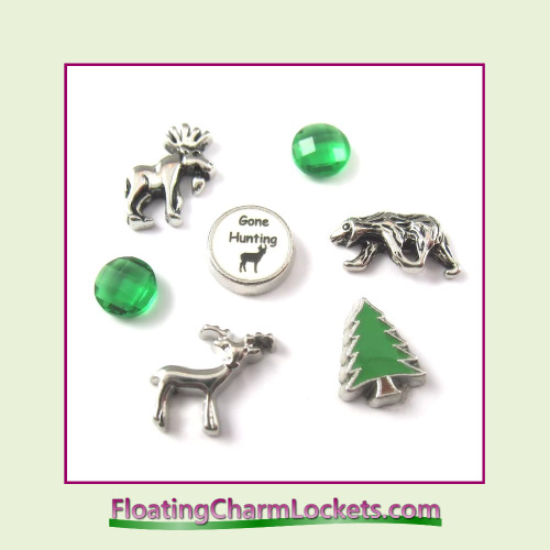FCL Designs Hunting Floating Charm Combination for Lockets
