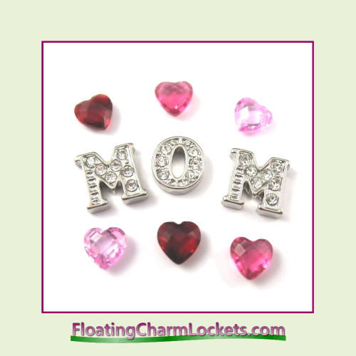 FCL Designs Mother's Day Floating Charm Combination for Lockets