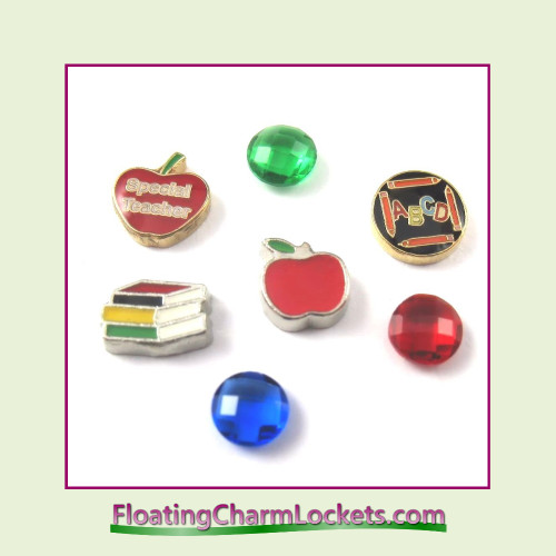 FCL Designs Teacher Floating Charm Combination for Lockets