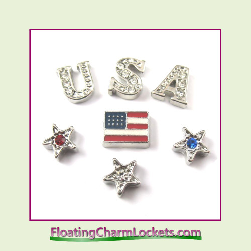 FCL Designs USA Floating Charm Combination for Lockets