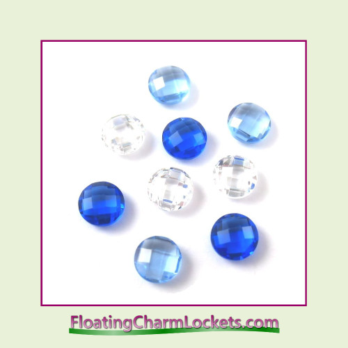 FCL Designs Winter Crystals Floating Charm Combination for Lockets