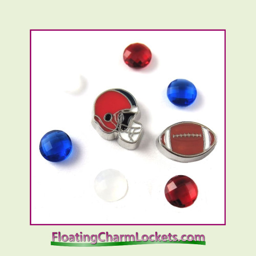 FCL Designs Football Team Floating Charm Combo #04 - Buffalo