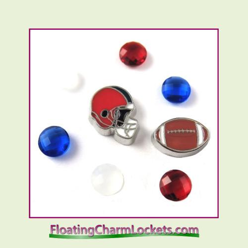 FCL Designs Football Team Floating Charm Combo #04 - Buffalo