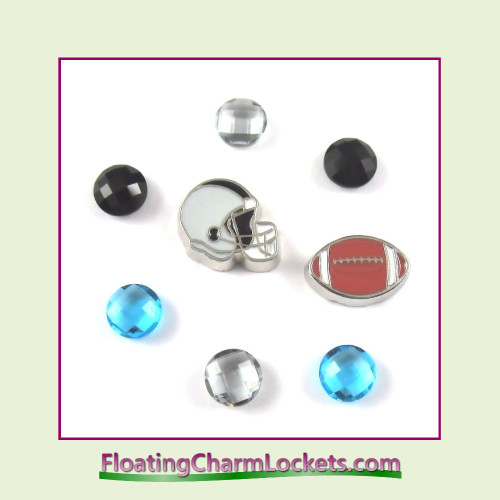 FCL Designs Football Team Floating Charm Combo #05 - Carolina