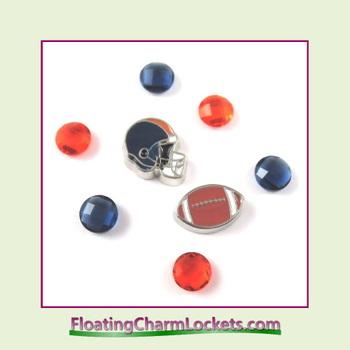 FCL Designs Football Team Floating Charm Combo #06 - Chicago