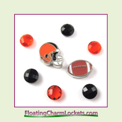 FCL Designs Football Team Floating Charm Combo #07 - Cincinnati