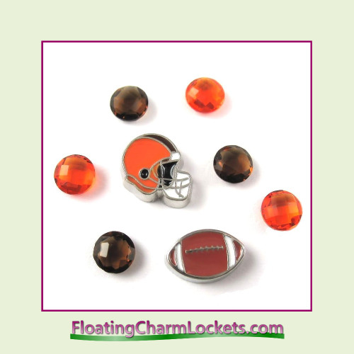 FCL Designs Football Team Floating Charm Combo #08 - Cleveland