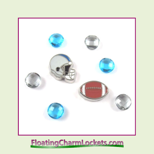 FCL Designs Football Team Floating Charm Combo #11 - Detroit