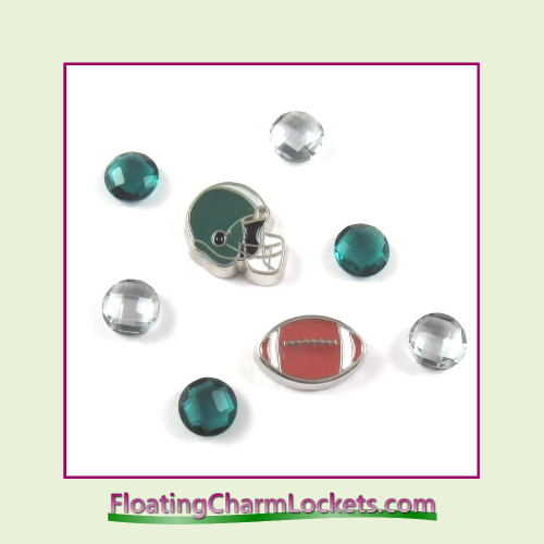FCL Designs Football Team Floating Charm Combo #24 - Philadelphia