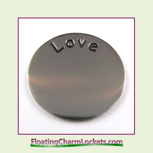 Love Back Plate (Silver) for Medium Round Stainless Steel Locket